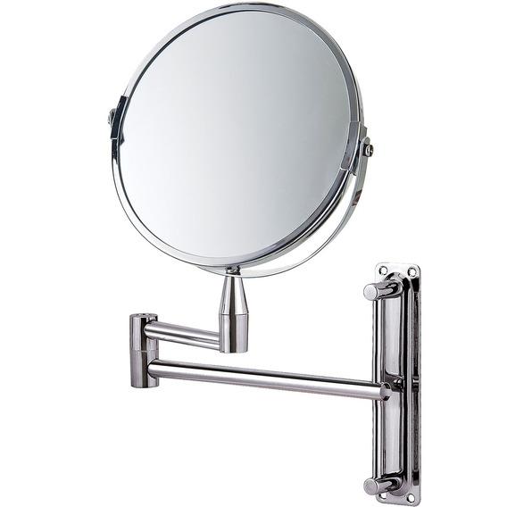 Espelho De Aumento Aço Inox Articulado Dupla Face 8482 Mor