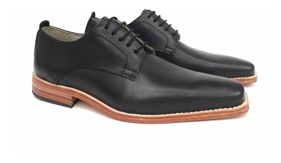 Combo Zapato Cuero Vestir Base De Suela + Cinturón Hombre