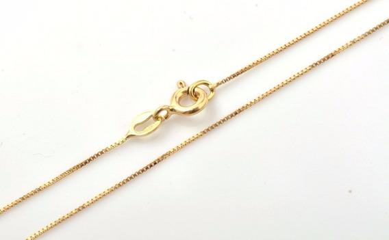 Cordão Veneziana 60cm Em Ouro Amarelo 18k-750