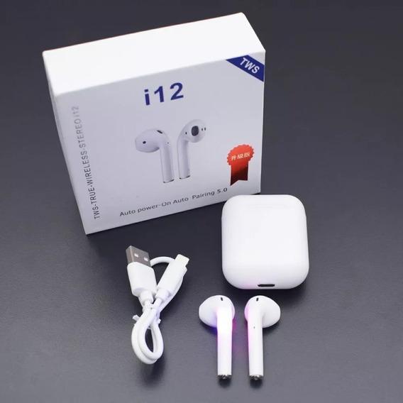 Audífonos Inalámbricos I12 Tws AirPods Detal 20v Y Mayor 16v