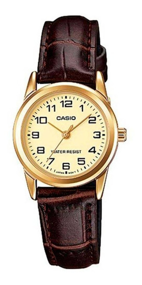 Relógio Casio Feminino Ltp-v001gl-9budf Analógico Original