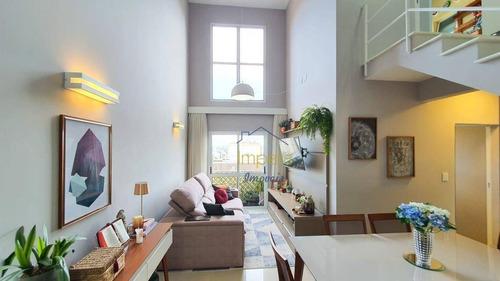 Cobertura Com 2 Dormitórios À Venda, 195 M² Por R$ 800.000 - Jardim Aquarius - São José Dos Campos/sp - Co0003