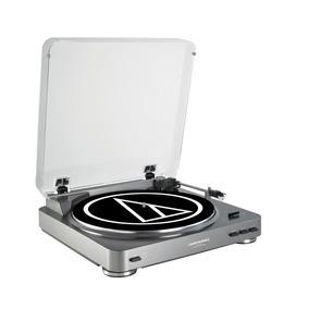 Toca-discos Audio-technica At-lp60-usb Prata (belt-drive)