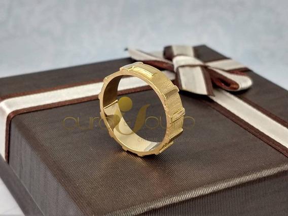 Anel Masculino 5,0g Ouro 18k - Top Luxo