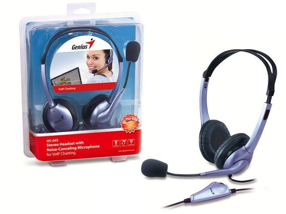 Fone Com Microfone Genius 31710156101 Hs-04s Headset Arco