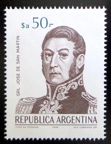 Argentina, Sello Gj 2148 San Martín $a 50 1983 Mint L9760