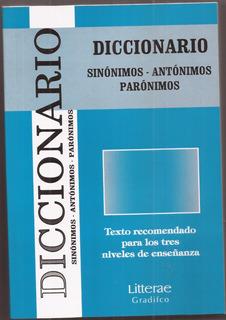 Diccionario Sinonimos-antonimos Paronimos, Libro Nuevo