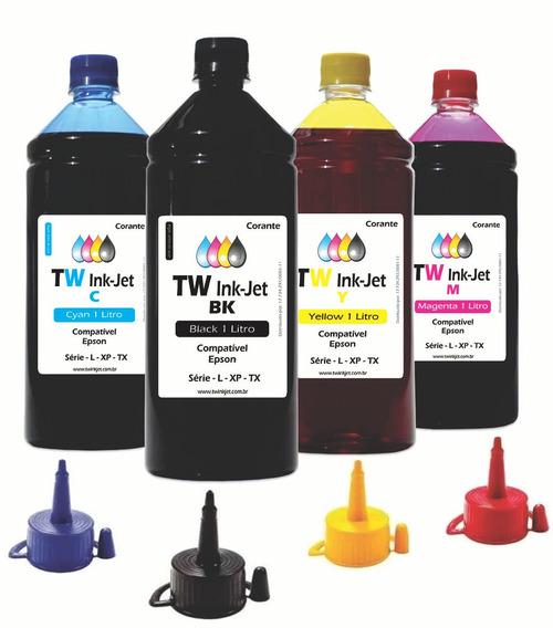 Tinta Compatível Para Epson Ecotank 4 Litros L396 Tw Ink-jet