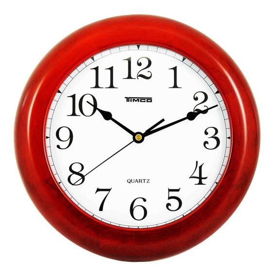 Reloj De Pared Madera Redondo De Luxe 28 Cm 3903