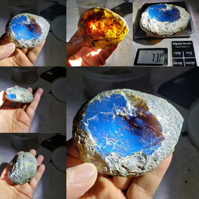 Natural Sky Blue Amber Amber Dominicano