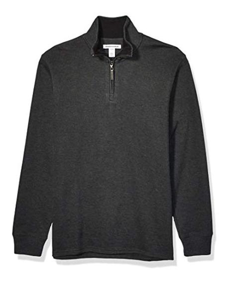 Essentials Men S Quarter-zip French Rib Sweater