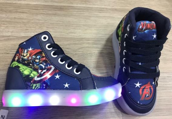 Sapato Luz Led Os Vingadores Infantil Masculino Promoção