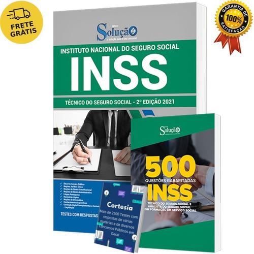 Kit Apostila Técnico Do Inss + Caderno De Questões Inss