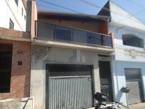 Sobrado Residencial À Venda, Jardim Esperança, Ribeirão Pires. - So0017
