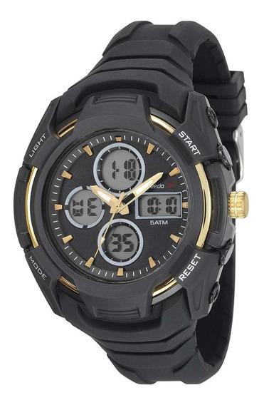 Relógio Speedo Masculino Anadigi 81166g0evnv1 Preto Original