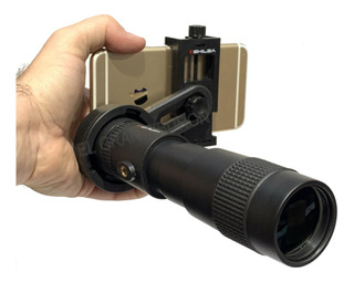 Monocular Shilba 8-24x40mm + Adaptador Para Celular Bak4