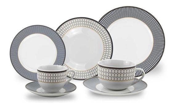 Aparelho De Jantar Porcelana 42 Peças Class Home
