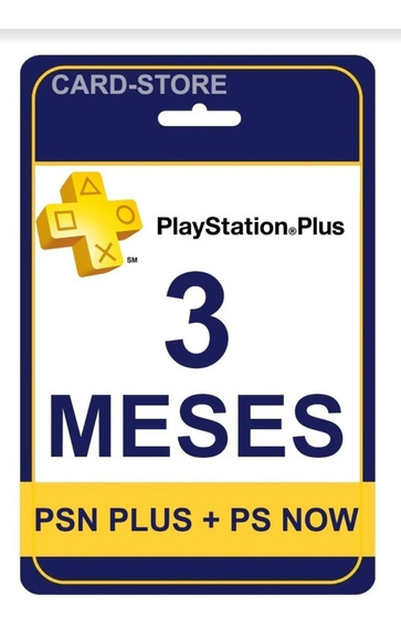 Psn Plus 3 Meses | Ps Now | Ps4