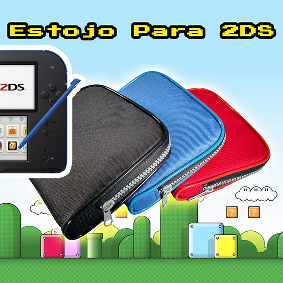 Nintendo 2ds Estojo Protetor Case Compartimentos 3ds