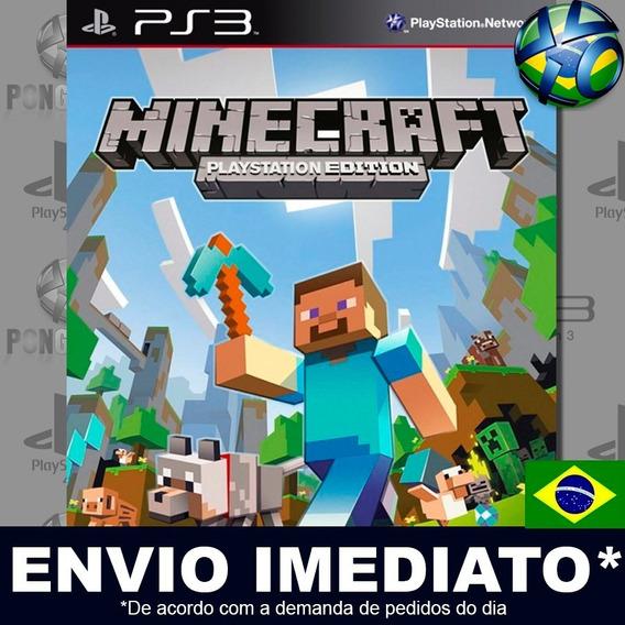 Minecraft Edition Ps3 Psn Dublado Português Pt Br Promoção