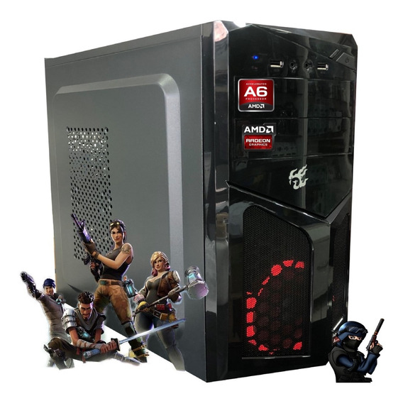 Cpu Gamer Barata Amd A6 7480 8gb Hd1tb Video Radeon R5 2gb