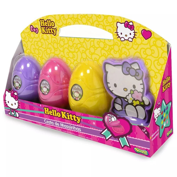 Cesta De Massinhas - Hello Kitty - Massas De Modelar - Sunny