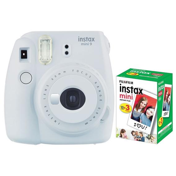 Câmera Instantânea Fujifilm Instax Mini 9 Branco Gelo+pack30