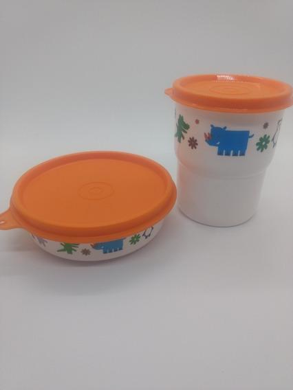 Kit Infantil Tupperware Copinho + Pratinho