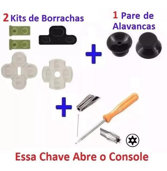 2 Kit Borrachas Ps3 + Chave T8 Ou X + Alavaca Fret 13,80