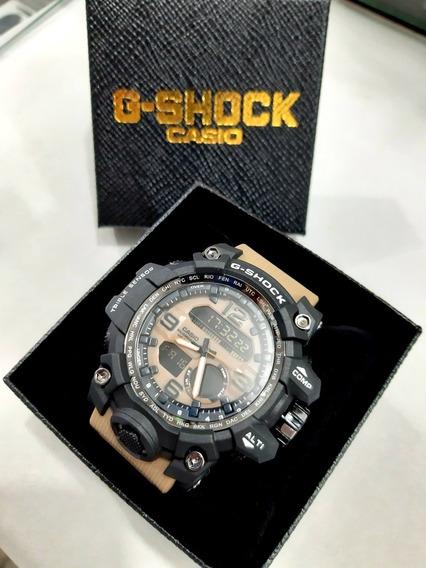 Relógio Ponteiro Digital Prova De Água Anti Shock Na Caixa
