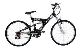 Bicicleta Full Suspension Kanguru Aço Aro 24 Polimet