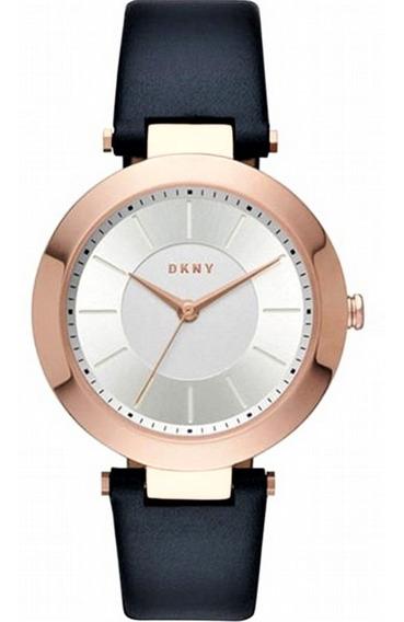 Relógio Pulso Feminino Dkny Aço Ouro Rose Puls Couro Ny2576
