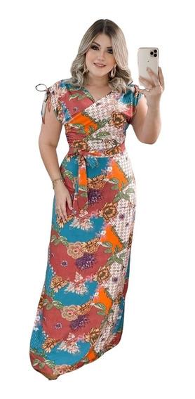 Vestido Longo Moda Feminina Lançamento Com Bolso Evangélica