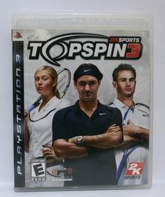 Top Spin 3 Jogo Tennis Ps3 Usado Mídia Física