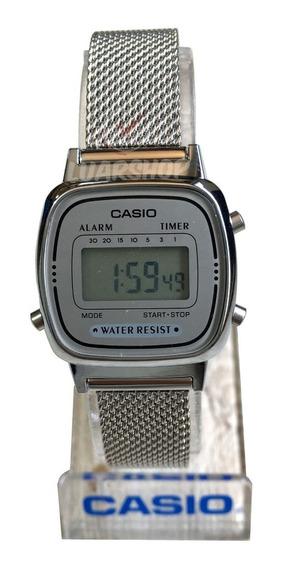 Relógio Casio Digital Mini Feminino La670wem Original Nf