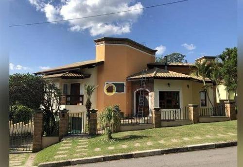 Imagem 1 de 12 de Sobrado Com 4 Dormitórios, 400 M² - Venda Por R$ 2.000.000,00 Ou Aluguel Por R$ 8.800,00/mês - Jardim Flamboyant - Atibaia/sp - So0715