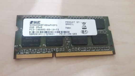 Memoria Smart Ddr3 De 2gb 2rx8 Pc3-10600s-09-10-f2 Notebook
