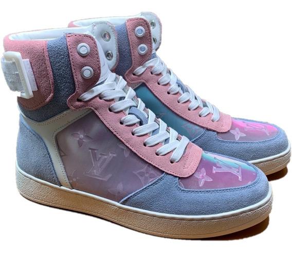 Tenis Sneakers Louis Vuitton Botín Pink, Envío Gratis