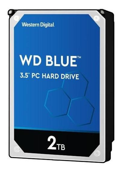 Disco Rigido Wd Blue Wd20ezrz 2tb 3.5 5400rpm 64mb Sata3