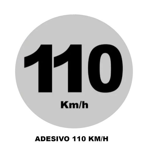 Adesivo 110 Km/h 3m Refletivo.