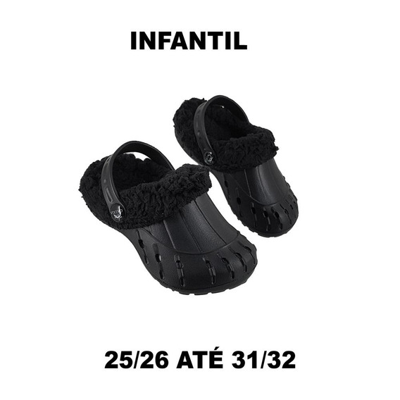 Babuche Pelo Sandália Infantil Pantufa Leve Cal Lojas Belli