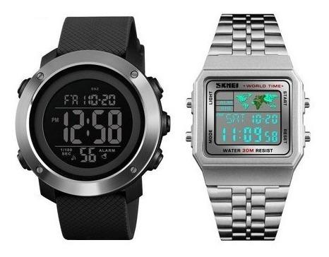 2 Relógios 1 Skmei 1416 + 1 Skmei 1338 (originais Com Nf)