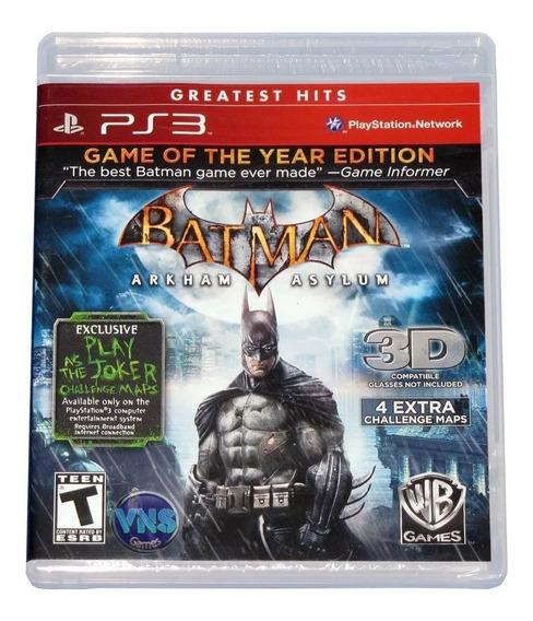 Batman Arkham Asylum Goty - Ps3 - Mídia Física - Lacrado