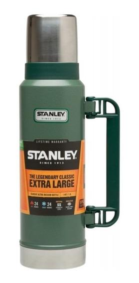 Termo Stanley Clasico 1,3lt Acero Inoxidable Tapon Cebador