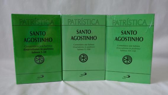 Livro Comentário Aos Salmos 03 Volumes Sto Agostinho Paulus