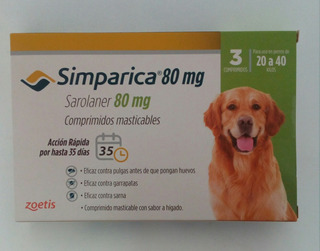 Simparica 20-40kgs De 3 Comprimidos
