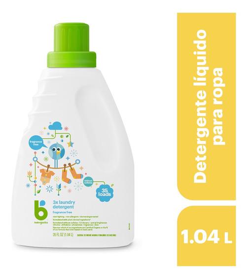 Babyganics Detergente Líquido Para Ropa Sin Fragancia 1.035l