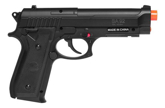 Pistola De Airgun À Gás Co2 Swiss Arms Pt92 Bax Nylon Fiber