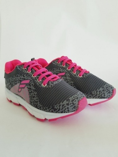 Tenis Infantil Feminino Cinza/rosa