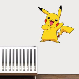 Adesivo Parede Infantil Desenho Mangá Pikachu Pokemon Goku